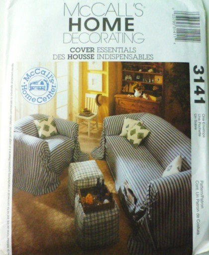 Mccalls Pattern 3141 Cover Essentials for Sofa Chair Covers Pillows Ottoman