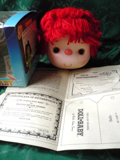 New: Doll Making Dolls Head for Crafts Red Hair by Westrim
