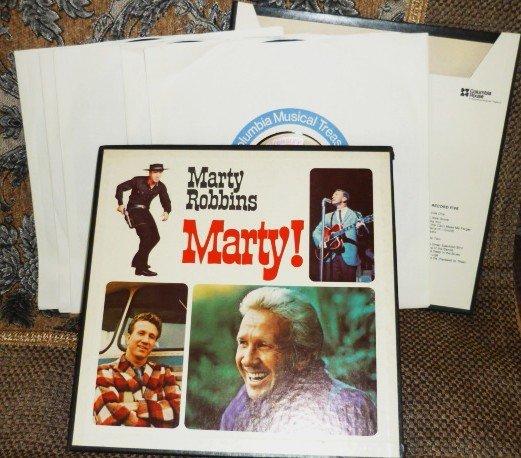 Marty Robbins Marty 5 Album Box lp Set 1972 p5s 5812 Stereo Rare