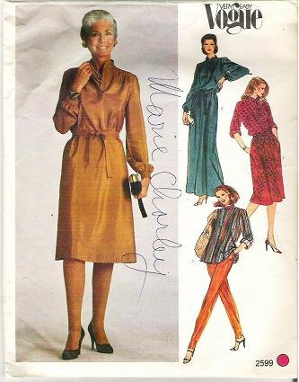 Very Easy Vogue Pattern Number 2599 Dress and Top Size 20 1/2