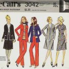 McCalls 1971 Pattern 3042 Size 10  Blouse Pants and Jacket