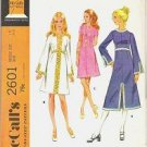 McCalls Pattern 2601 Misses Sz 12 Dress in Three Versions 1970