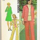 1975 Simplicity Uncut Pattern 7087 Size 12 Jacket, Pants, Skirt, Shirt