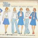 Simplicity Uncut Pattern 7300 Cardigan Top Pants and Skirt Sz 12 1975