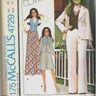 Uncut McCalls 1975 Sewing Pattern 4729 Size 12 Marlos Corner