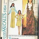 McCalls Uncut Pattern 5164 Sz 8 10 12 Jacket Vest Skirt Pants 1976