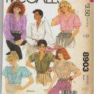 McCalls Uncut Pattern 8903 Blouses 1984 Size 16