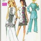 Simplicity Pattern 8635 Uncut 1969 Ladies Size 14 Pants Mini Dress