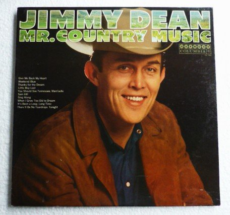 Mr Country Music lp by Jimmy Dean Harmony hl 7408 - 1967