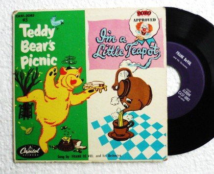 Teddy Bears Picnic and Im a Little Teapot 45 Record - Frank De Vol casf 3083