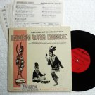 Rare Indian War Dance 10 inch Record Twinson Co Instruction Sheets Included