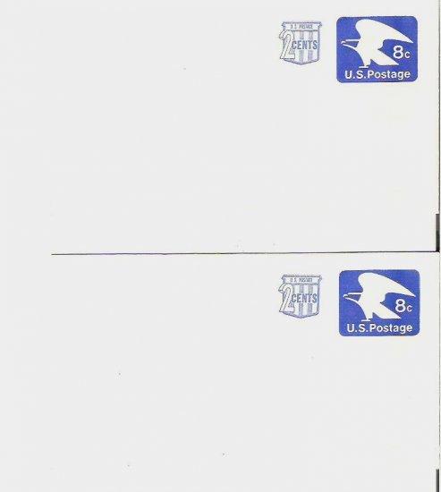 Five 8 plus 2 cent PreStamped Envelopes Unaddressed 1970s