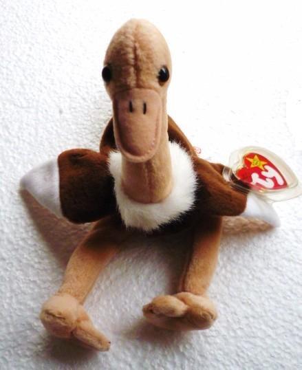 Ty Beanie Baby Stretch The Ostrich 1997 Original Retired Mint w Tag