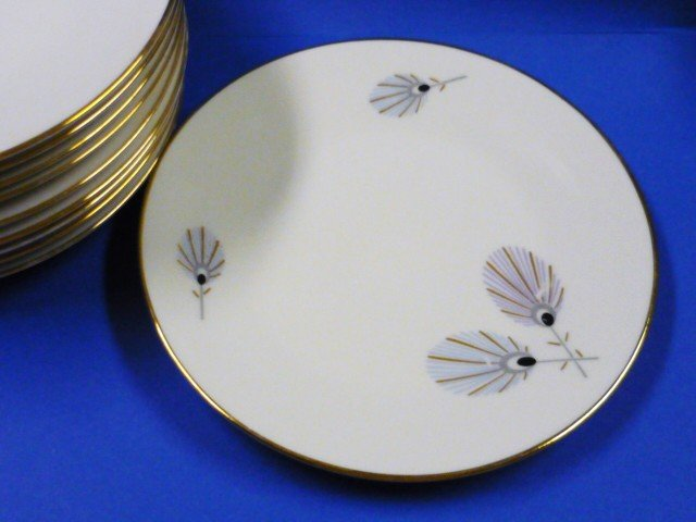 Set of 5 Bavaria Eberthal Porcelain Bread and Butter Plates - W Germany 1950s