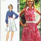 Simplicity Pattern 5619 Uncut 1973 Sz 12 Misses Designer Fashion Dress
