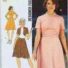 Simplicity Pattern 6145 Uncut 1973 Misses Designer Fashion Dress Size 12