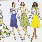 Uncut Vogue Pattern 8544 Waist Size 25 Misses Skirts c 1970s