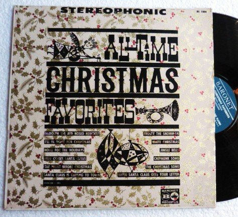 Rare lp: All Time Christmas Favorites Baronet bs 1004 The Ray Small Chorus