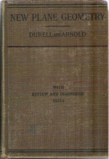 New Plane Geometry - Durell and Arnold NY State Edition 1931 Rare