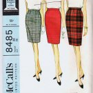 McCalls Pattern 8485 Misses Skirt 26 Waist Vintage 1966