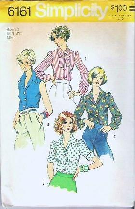 Uncut Simplicity Pattern 6161 Blouse for Junior/Misses Sz 12