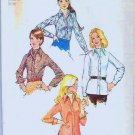 Uncut 1973 Simplicity Pattern 5802 Sz 12 Shirt and Ascot