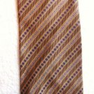 B Altman Neck Tie Vintage 1970s Tan w Red White and Black Accents