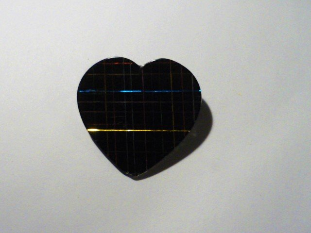 Sparkling Heart Shape Pin Multi Color and Large