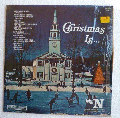 Christmas is...for Big N Dept Store P-12515 lp Various Artists 1974