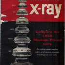 X Ray 1958 Automotive Brochure Comparing Medium Sized Cars
