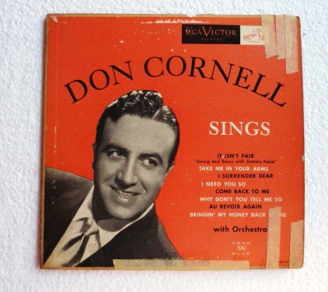 Don Cornell Sings 1950s lpm 3116 - 10 inch lp