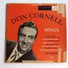 Don Cornell Sings 1950s lpm 3116 - 10 inch lp