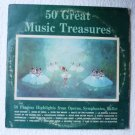 50 Great Music Treasures lp Many Artists Operas Symphonies Ballet