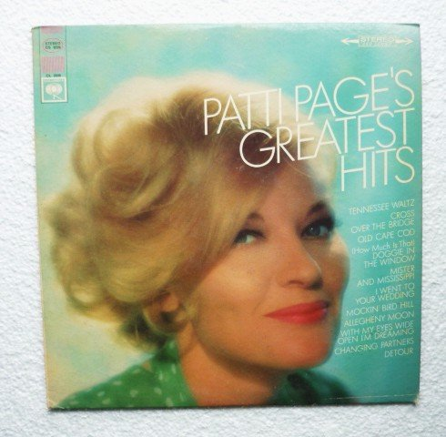 Patti Pages Greatest Hits By Patti Page lp cs 9326 Stereo