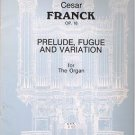 Prelude, Fugue and Variation Op 18 Sheet Music For Organ Cesar Franck