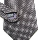 Roundtree and Yorke Silk Tie White and Red Honeycomb on Black Hand Sewn