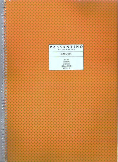 Passantino Spiral Music Manuscript Paper No 74 10 Stave Both Sides