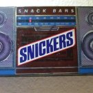 Snickers Boombox Radio Tin - Rare 1989 Radio Tin