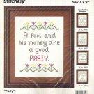 Sealed Kit: Bucilla Party Needlepoint Stitchery Sampler Number 49604