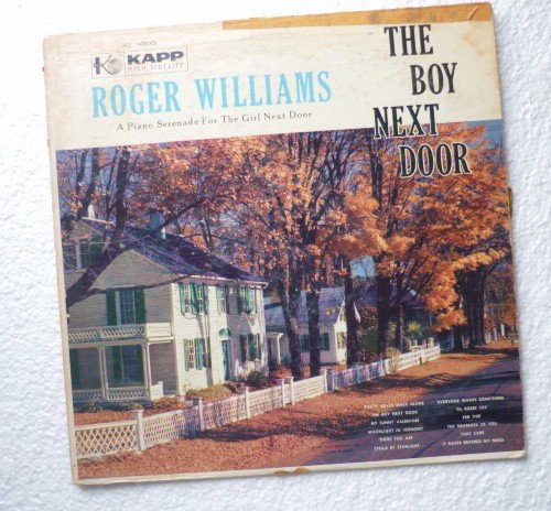 The Boy Next Door: A Piano Serenade For The Girl Next Door lp by Roger Williams kl-1003