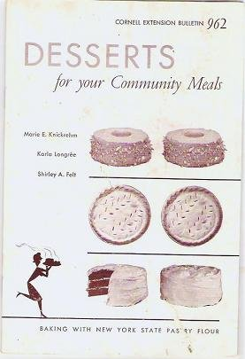 Rare 1956 Desserts for your Community Meals Recipe Booklet Cornell Extension No 962