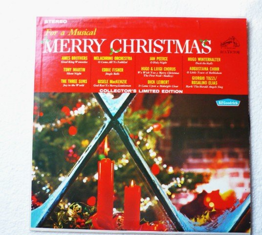For A Musical Merry Christmas Rca B F Goodrich Stereo lp prs- 163 -1964