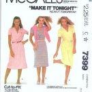 Uncut Mccalls Pattern 7399 Misses Sz 8 10 12 Knit Dress