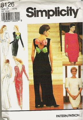 Simplicity Pattern 8126 Formal Lined Dress Two Lengths Sizes 12 14 16