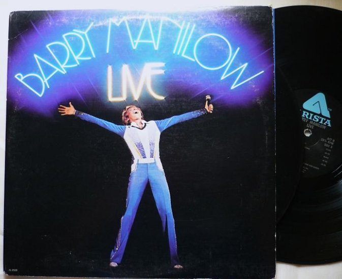 Barry Manilow Live 1977 lp Double Album al 8500 VG