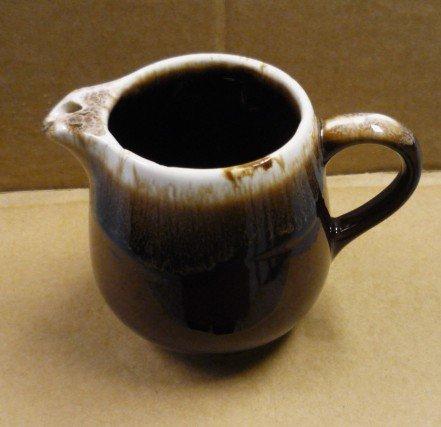 Mirror Brown Drip Pottery Creamer Pitcher Vintage Marked USA