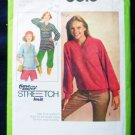 Simplicity 1978 Pattern 8618 size 10 12 and 14 Pullover Top in Two Lengths