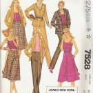 Mccalls Pattern 7528 Misses Size 16 Jacket Camisole Culottes Pants