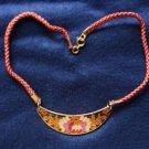Turkey Motif Necklace Choker Autumn / Fall Colors