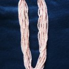 Estate Twisted Beaded Choker - 15 Strand - Pretty Pink